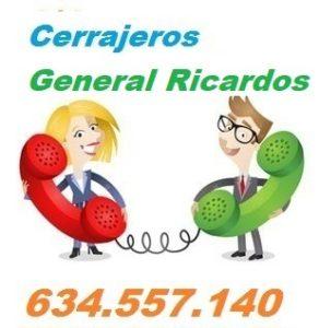 Telefono de la empresa cerrajeros General Ricardos